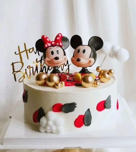米奇生日蛋糕装饰摆件 唐老鸭米老鼠公仔情景烘焙动漫