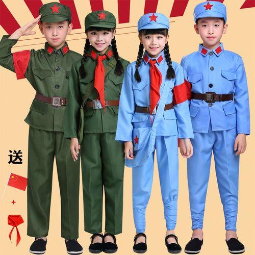 成人红军演出服儿童八路军衣服女舞台表演服男新四军