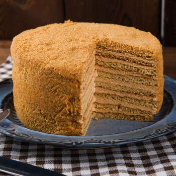 俄罗斯进口提拉米苏蜂蜜奶油千层蛋糕500g可可奶油椰蓉酸奶 奶油味