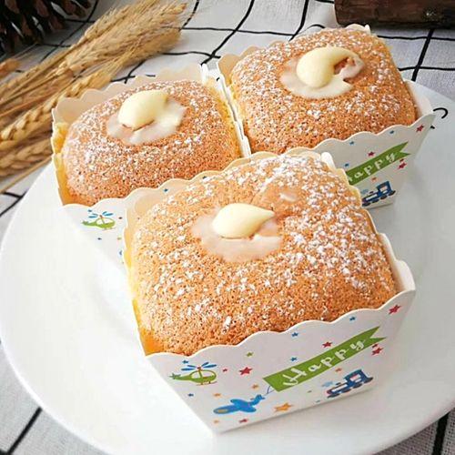 马芬杯烘焙家用烤箱北海道戚风纸杯耐高温方形纸模蛋糕淋膜纸盒