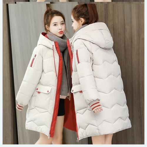半大款棉服女2020新款韩版棉衣中长款宽松大码加厚