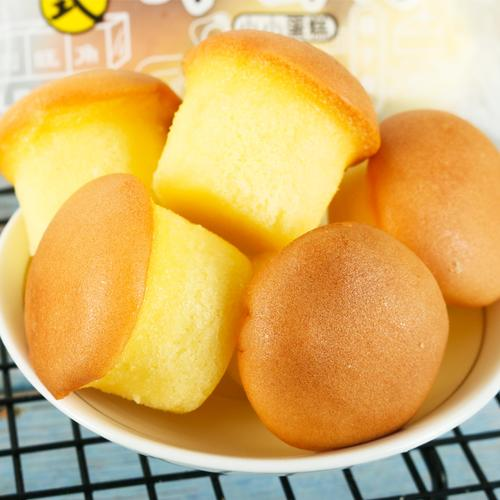 国宇港式鸡蛋仔小面包甜蛋糕点心一口小小蛋糕芝士味休闲零食品 国宇