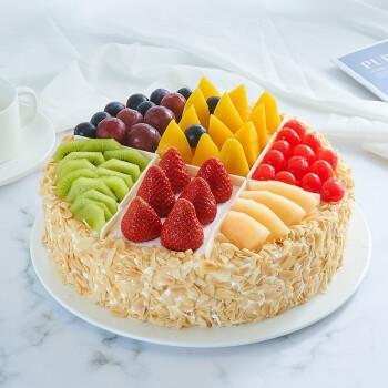 生日蛋糕全国同城配送鲜花蛋糕儿童祝寿巧克力水果奶油上海深圳