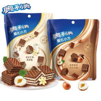 奥利奥巧克力威化小方夹心饼干网红零食小吃多口味休闲食品 【买1送1