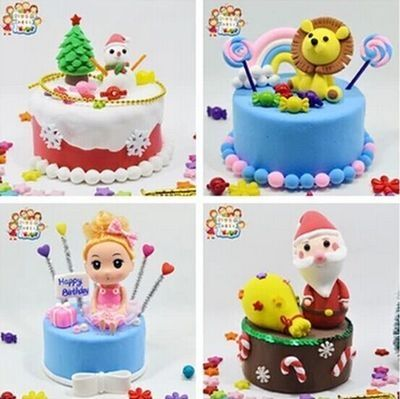 蛋糕材料包彩泥超轻粘土儿童手工制作diy工具幼儿园
