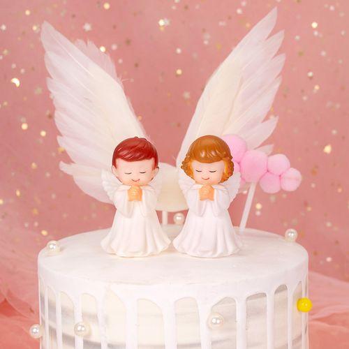白衣天使蛋糕装饰摆件男孩女孩生日甜品配饰宝宝周岁