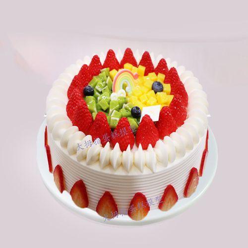 新款欧式水果蛋糕模型  流行网红新款水果生日蛋糕模型  橱窗模型