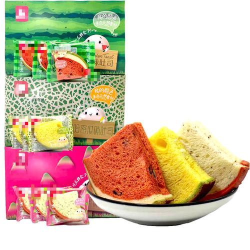 5折 西瓜吐司面包整箱早餐营养夹心网红糕点儿童零食