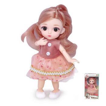 16厘米迷你芭比娃娃公主12关节玩偶叶罗丽小女孩套装礼盒儿童玩具
