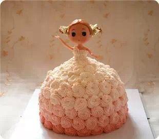 芭比娃娃翻糖蛋糕模型生日蛋糕节日蛋糕少女公主定做