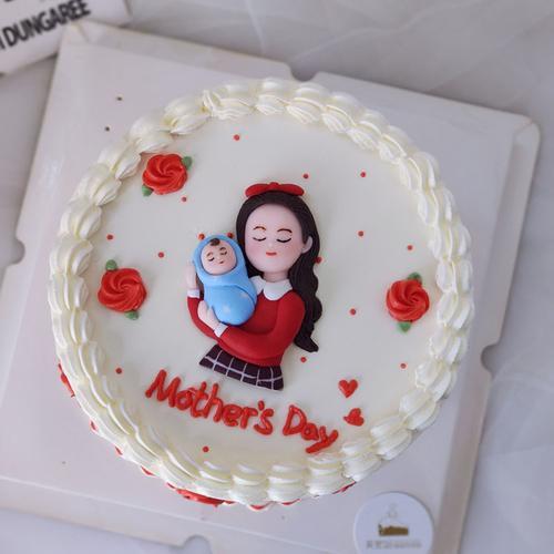 网红38母亲节蛋糕装饰亚克力皇冠妈妈节日快乐蛋糕插牌插件装饰