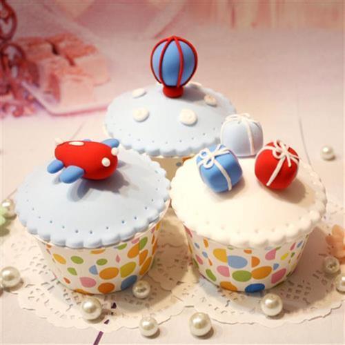 手轻粘土仿空纸杯蛋糕套装 儿童超工太真泥dmiy甜品