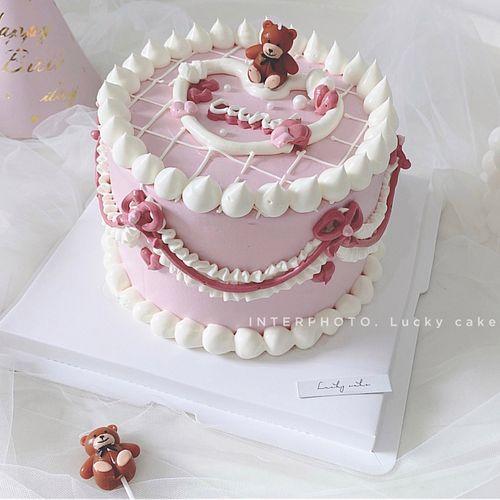 ins卡通泰迪熊可爱小熊生日蜡烛儿童派对生日蛋糕装饰