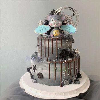 网红跨年新年元旦鼠年生日蛋糕生肖鼠小老鼠生日蛋糕全国上海广州