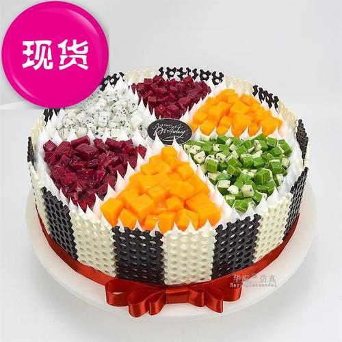 小汽车蛋糕店装饰用品6商用流行新款新品迷你假蛋糕道具2020年创