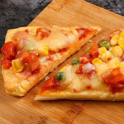 成品披萨加热即食成品披萨饼速食速冻烘焙黑椒牛肉