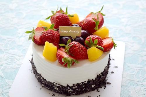 6英寸水果生日蛋糕
