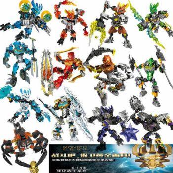 乐高生化战士全新系列聚能英雄工厂合体机器人暗影拼装男玩具 老生化