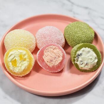 糯米糍团子零食甜点冰淇淋椰蓉慕斯糕点 【2袋】草莓味+提拉米苏味