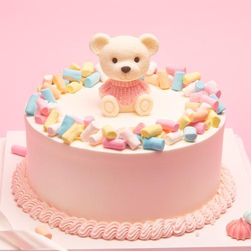 粉色萌熊-儿童/女神蛋糕
