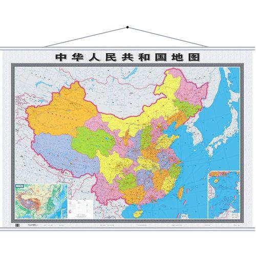 2021年新 中国地图 全国行政区划图 办公室家用挂图 1.6*1.