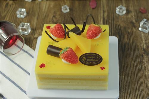 仿真蛋糕模型 芒果夹心水果巧克力模型 婚礼生日  手工制作装饰品