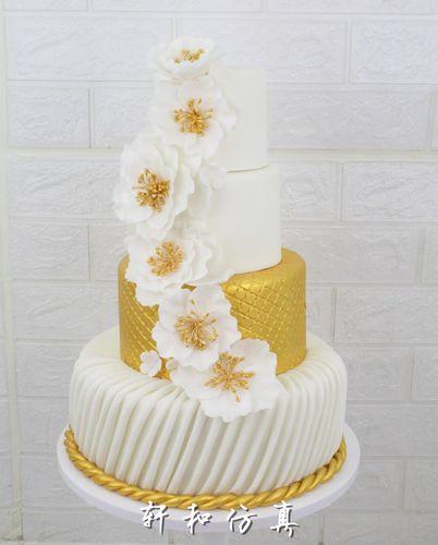 多层仿真翻糖蛋糕模型卡通三层冰雪奇缘城堡鲜花高端