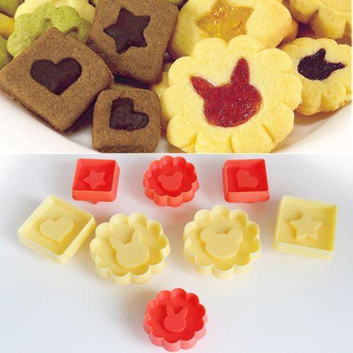 diy创意双面曲奇饼干8件套制作器 夹心饼干卡通模具塑料亲子活动