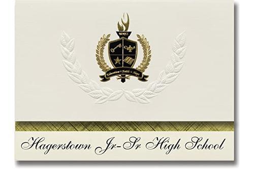 标志性公告 hagerstown jr-sr 高中(印度哈格斯敦)毕业公告,总统风格