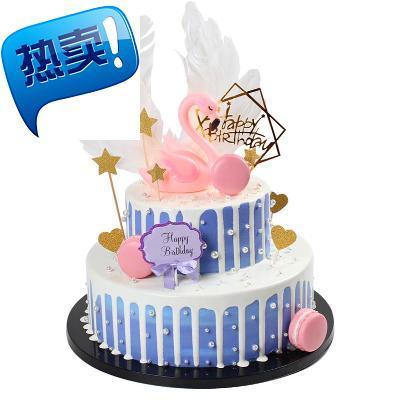 层水果生日蛋糕模型仿真2021新款卡通蛋糕模型橱窗