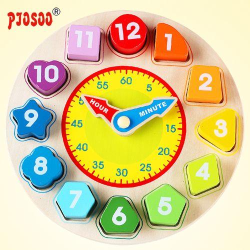 珠形状配对积木教玩具益智数字时钟间穿线串婴幼儿童
