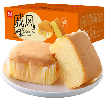 其妙戚风蛋糕整箱装400g 西式糕点早餐代餐面包零食小吃下午茶点心