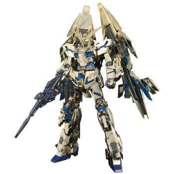 万代(bandai)1/100高达模型 拼装敢达玩具 mg系列 独角兽3号机 电镀