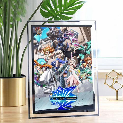 交锋联盟之机巧一族 照片定做相框水晶玻璃摆台摆件