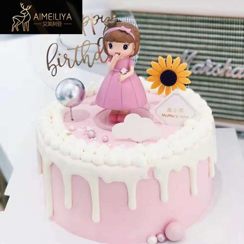 烘焙蛋糕装饰小公主玩偶摆件可爱小女孩生日派对甜品