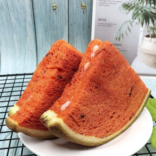 5折 西瓜吐司面包500g夹心零食糕点 1斤西瓜味