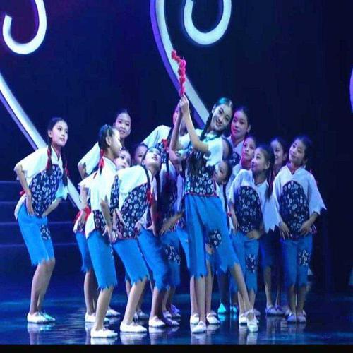 少儿舞蹈那时花开儿童演出服六一幼儿园表演出女童民族装映山红新