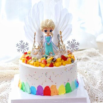 爱莎公主生日蛋糕h款 12寸(适合7-10人食用)