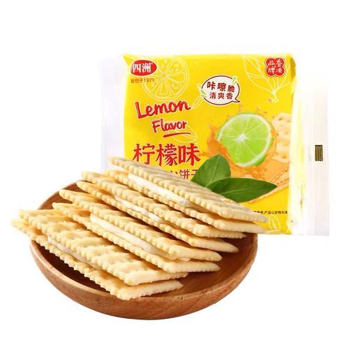 四洲梳打夹心饼干(柠檬味)135g/包 1*36 4892616032065