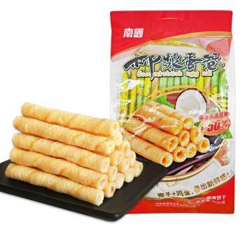 南国椰浆蛋卷405g海南特产椰香酥卷薄脆椰子饼干椰奶休闲零食 405g(约