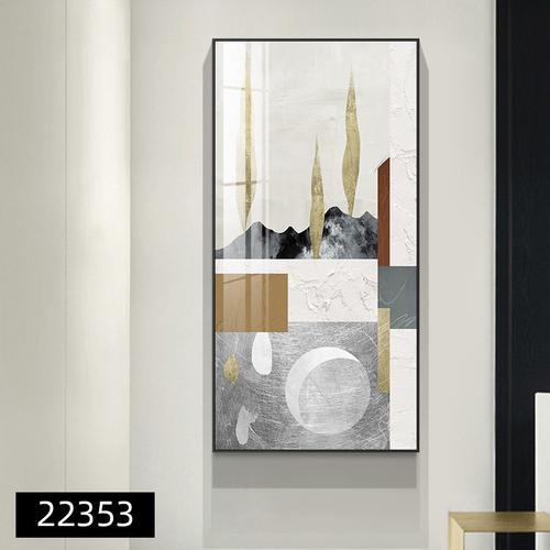 重新定义 现代简约入户玄关装饰画抽象几何客厅走廊竖
