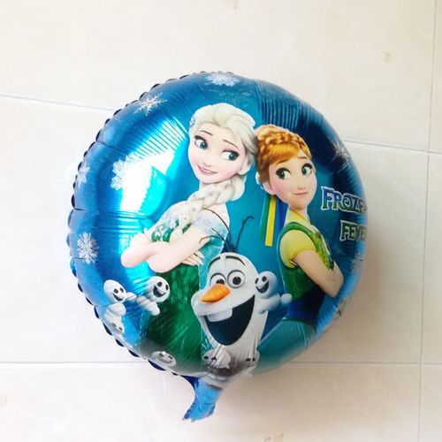 新款气球生日派对装饰 铝箔圆形冰雪奇缘生日惊喜铝膜