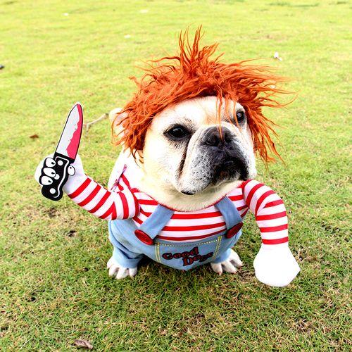 宠物衣服致命娃娃狗狗变身装万圣节宠物服装小中大型