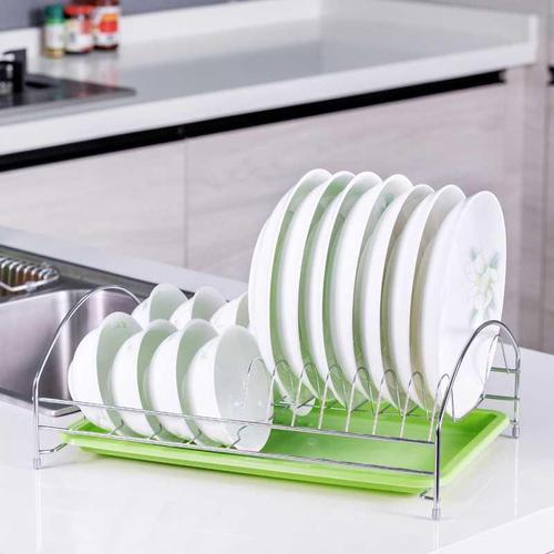 中国单层碗盘架放架碗筷架子碗碟置物收纳用品沥水厨房碗架物架