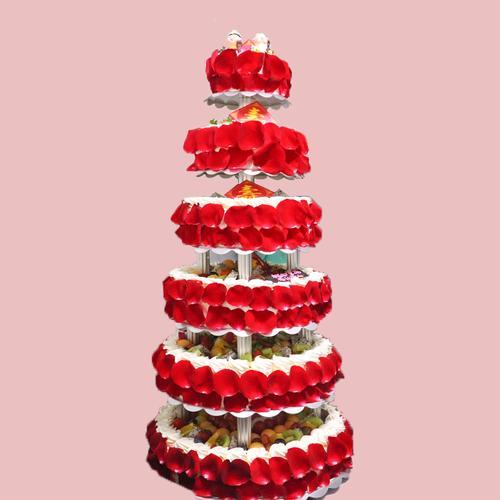 多层架子生日蛋糕*1个/6层/7层/8层/9层(更多款式请联系客服)(冷/零)