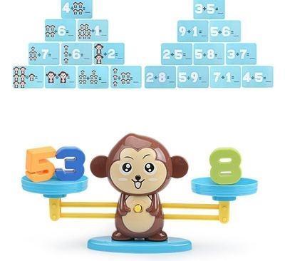 中班天坪儿童数字平衡称玩具算术加减法游戏科学积木