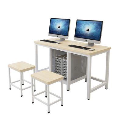 机房电脑桌学校学生培训班课桌椅组合网吧微机计算机