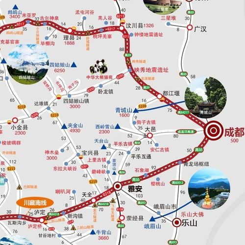 2018西部自驾川西川藏线318青藏线滇藏线新藏线阿里甘南攻略地图