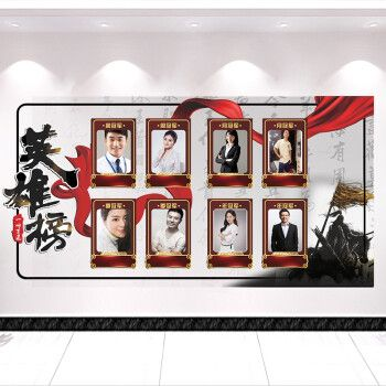 馨翔英雄榜文化墙业绩墙展示板优秀员工荣誉墙展示墙光荣榜墙贴评比栏