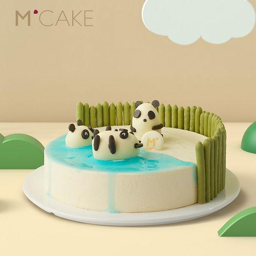 mcake胖达乐园儿童生日慕斯蛋糕同城配送上海